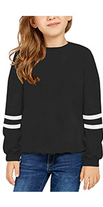 Girls Casual Tops Long Sleeve Loose Soft Blouse T-Shirt for 4-13 Years