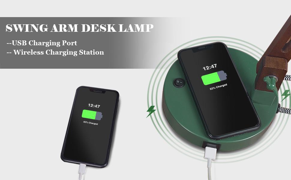 USB  Charging Port Wireless Charging Station