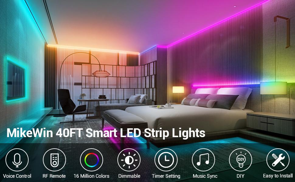 40ft smart led strip lights