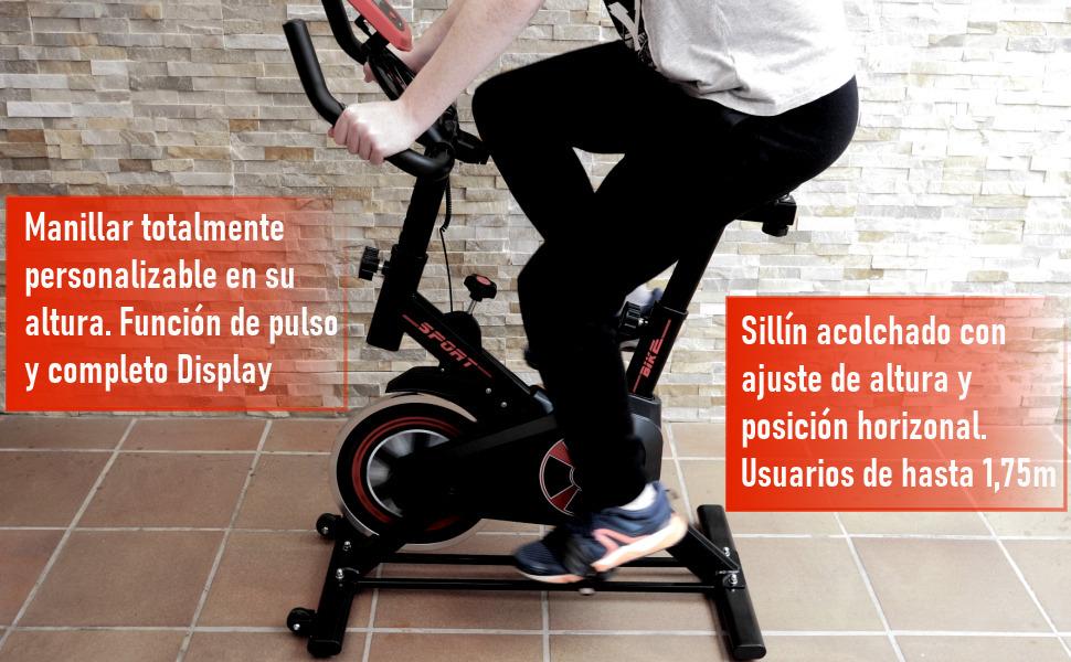 bicicleta de spinning indoor, bicicleta de spinning gridinlux, bicicleta fitfiu