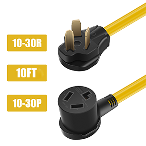 Yellow 10ft 10-30P to 10-30R