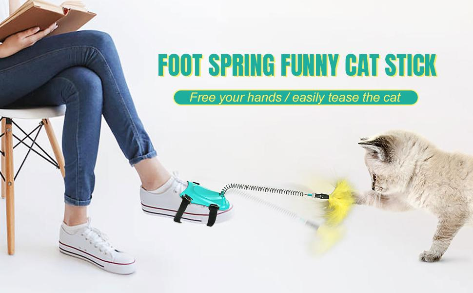 cat toys with feathers with stick
