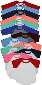 Long and Short Sleeve Raglan Shirts