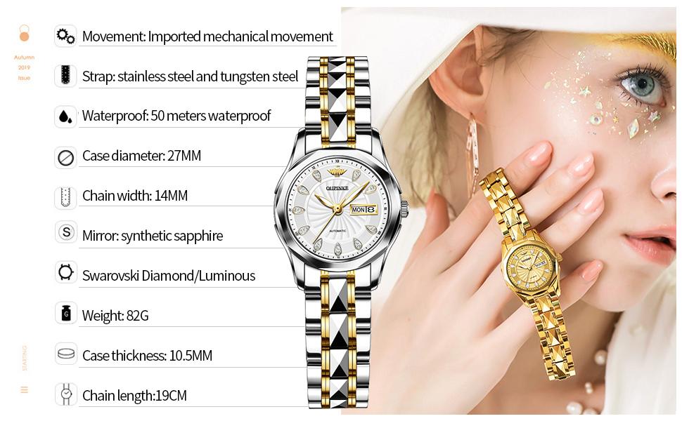 Luxury dress women's watch