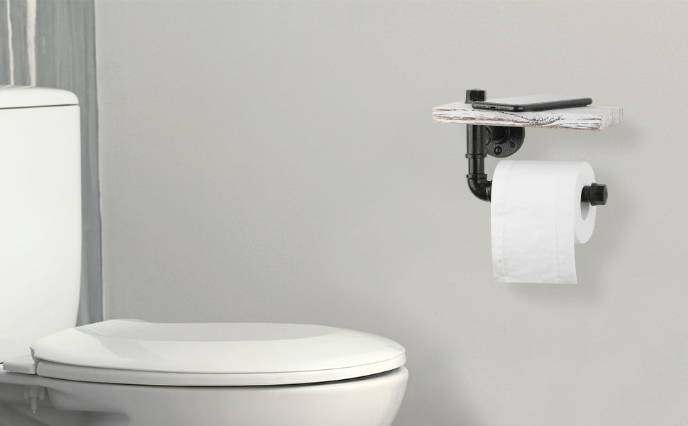 bathroom toilet tissue dispenser with wood