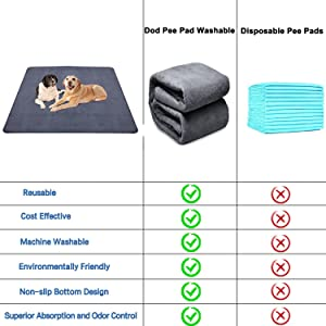 Compare to the disposable pee pads