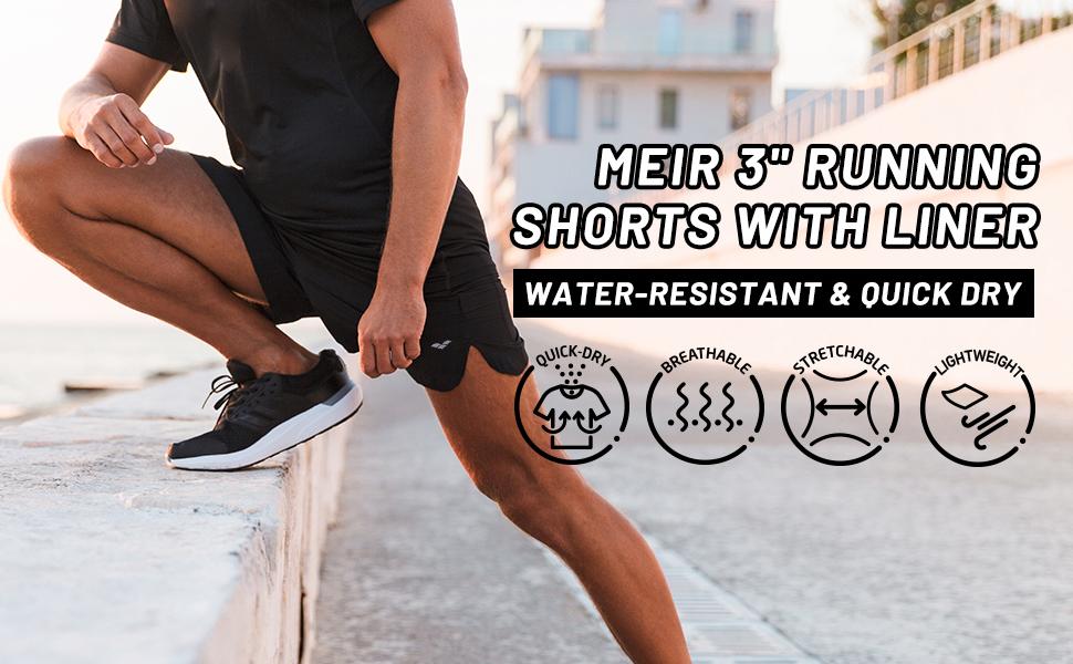 mens 3 inch running shorts with inner lining lined marathon track ranger panties dri fit