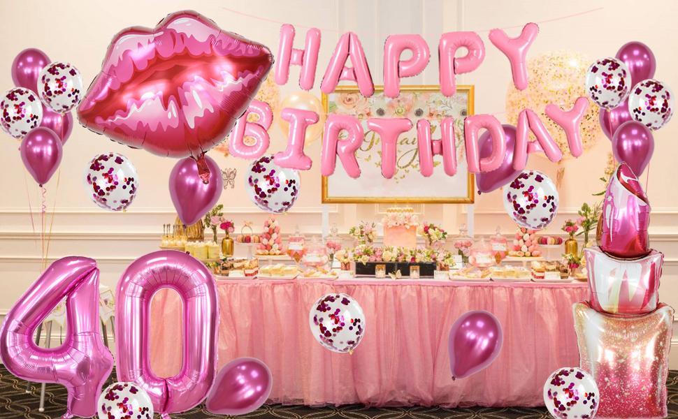 Lipstick Kissy Lips for Women Ladies 40th Birthday