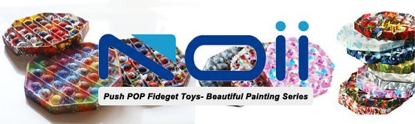 Noii - Fidget Sensory toys Push POP it-Beautiful Painting Series