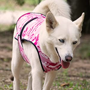 Pink Camouflage Cooling Vest for dogs