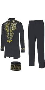 Men's African Dashiki Suit