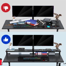 GAMING DESK WITH MONITOR STAND
