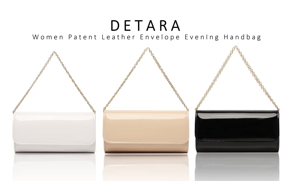 Women Patent Leather Envelope Clutch