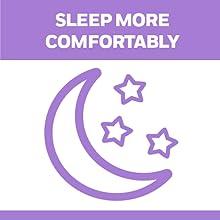 SLEEP MORE COMFORTABLY