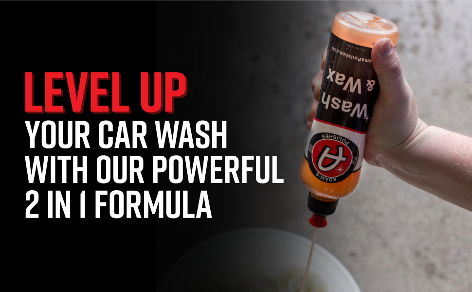 Level up you car wash with our powerful 2 in 1 formula