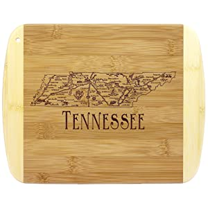 A Slice of Life Tennessee Bamboo Serving and Cutting Board