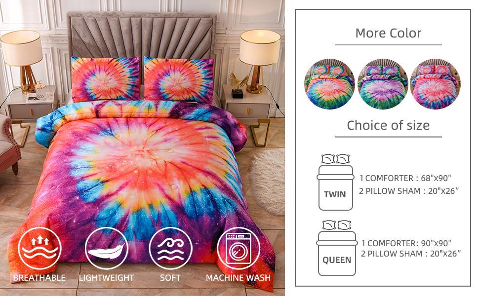 tie dye comforter set