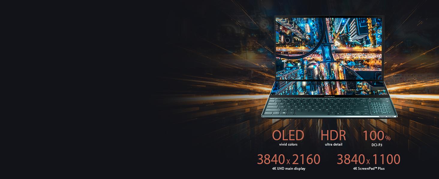 4K UHD OLED, 4 Way NanoEdge Display