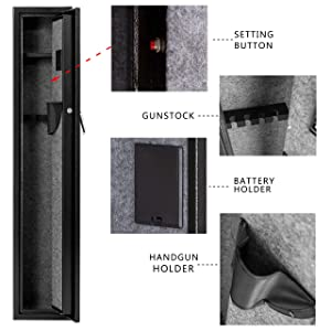 gun safe detail