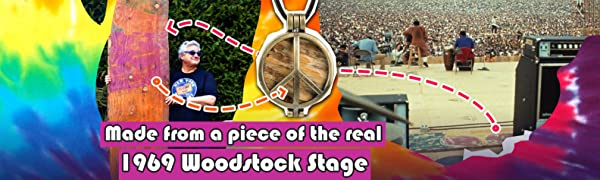 Made from a piece of the real 1969 Woodstock Stage