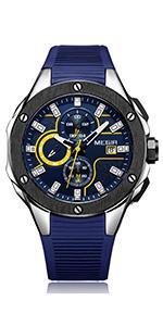 MEGIR Men's Military Sports Chronograph Watches