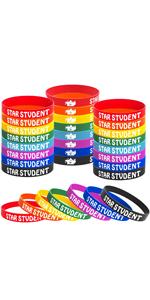 24PCS Star Student wristband
