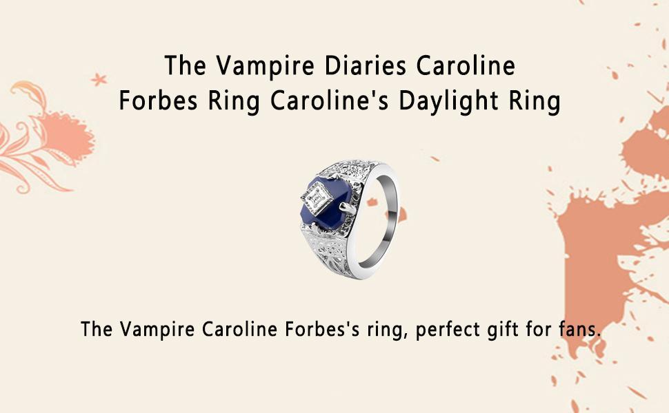 The original inspired gift the vampire diaries inspired Ring Caroline Forbes's Ring vampire love