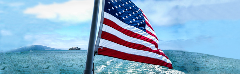 An excellent American flag can float for a long time at sea