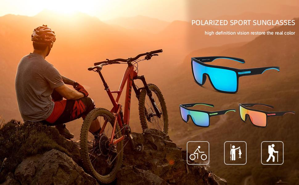 Polarized sports sunglasses