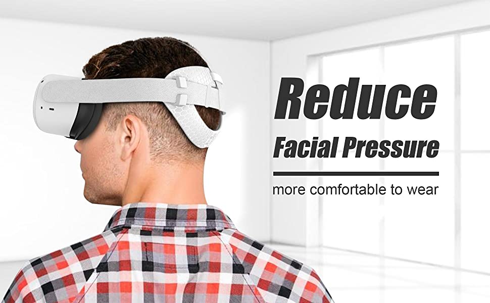 AMVRクエスト2オクルスためヘッドレストパッドはきれいに簡単で、ソフトで快適なTPU素材で作られて