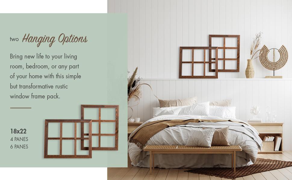 Ilyapa Wooden Window Panes Set