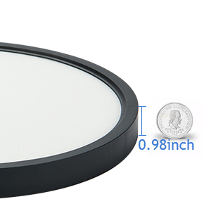 ultra thin black ceiling light fixture
