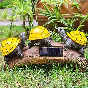 solar turtle statue lights