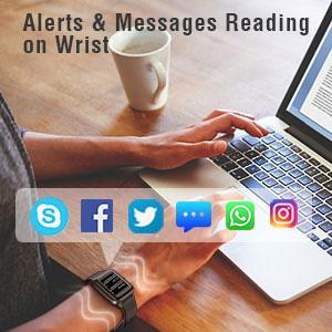 Alerts & Messages Reading on Wrist