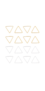 Triangle Open Bezel Pendant