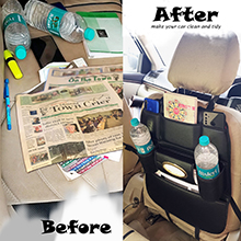 Car Back seat Before-After No more mess on rear seat