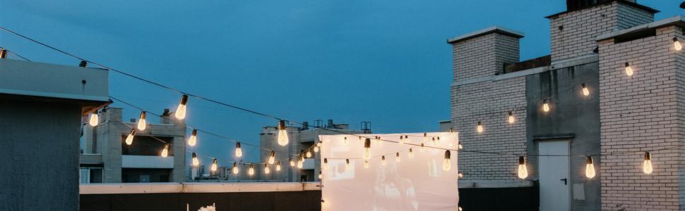 patio string lights outdoor waterproof