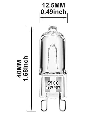 G9 halogen bulbs