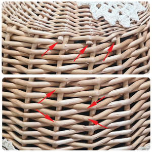 wicker food cover