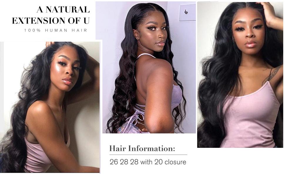 28 30 inch human hair bundles