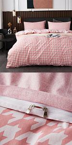 cotton grid duvet cover