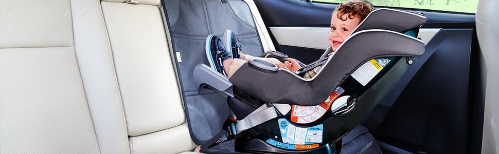 car seat protector black
