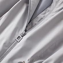 reverse zipper w/ inner flap
