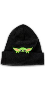 Beanie Hat Yoda Baby Grogu Mandalorian Licensed Baseball Hat Cosplay Star Wars Disney Black