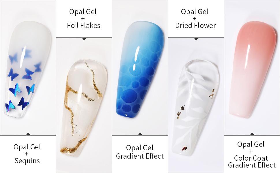 opal milky white gel polish