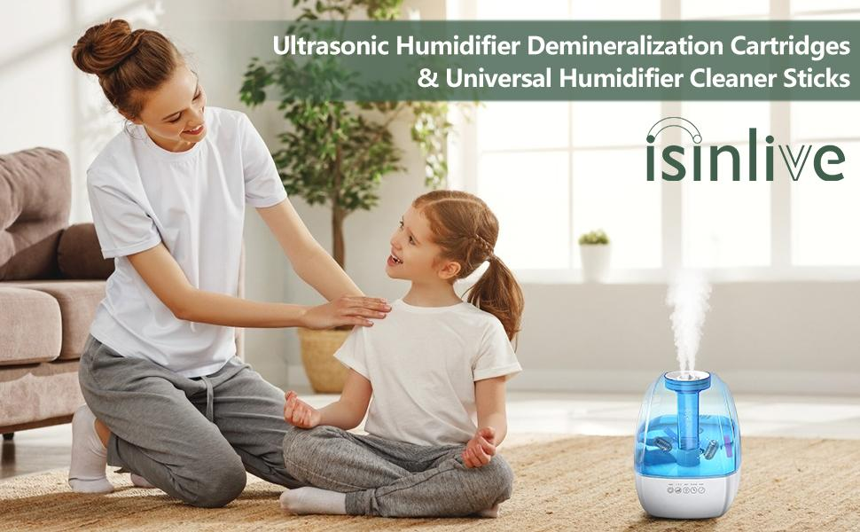 Ultrasonic Humidifier Demineralization Cartridges amp; Universal Humidifier Cleaner Sticks
