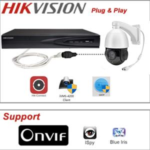 5MP Outdoor PTZ 18X Optical Zoom PoE IP Camera Compatible with Hikvision/Onvif Protocol