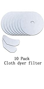 10 pieces HQRP 2 Kits Universal Cloth Dryer Filters fits CTT GYJ60-58 GYJ50-Q5