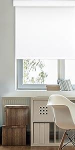 GoDear Design FreeStop Cordless Roller Shade Blind Light Filtering Dobby White