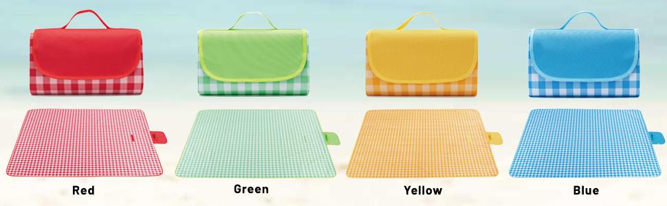 4 colors picnic blankets